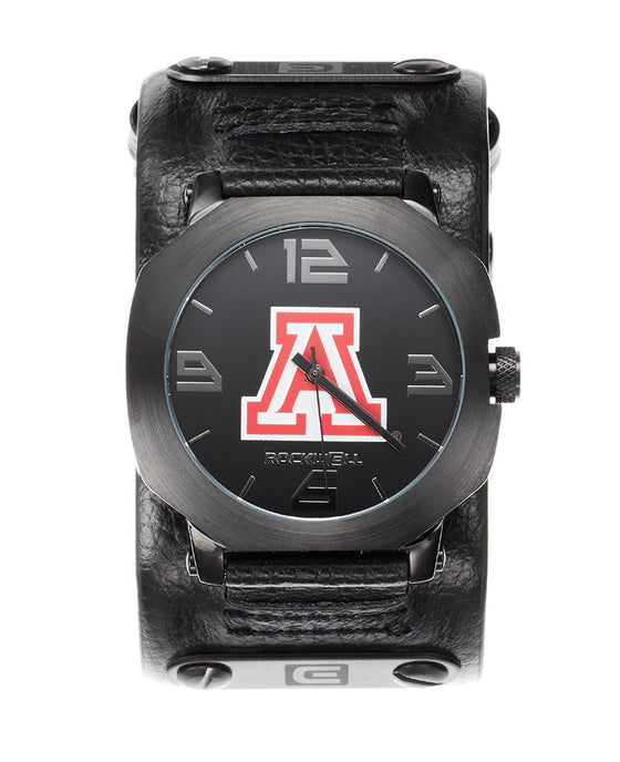 Custom Arizona Gunmetal Assassin with a Black Leather Band