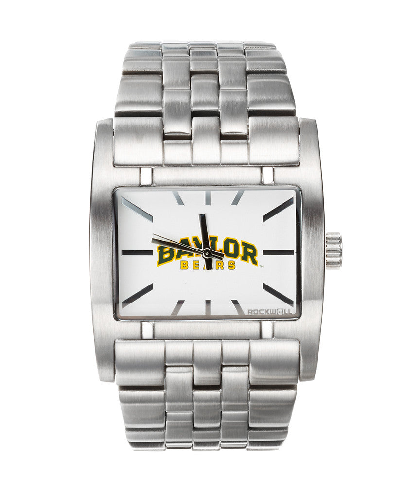 Apostle Silver Band White dial with University of Baylor print