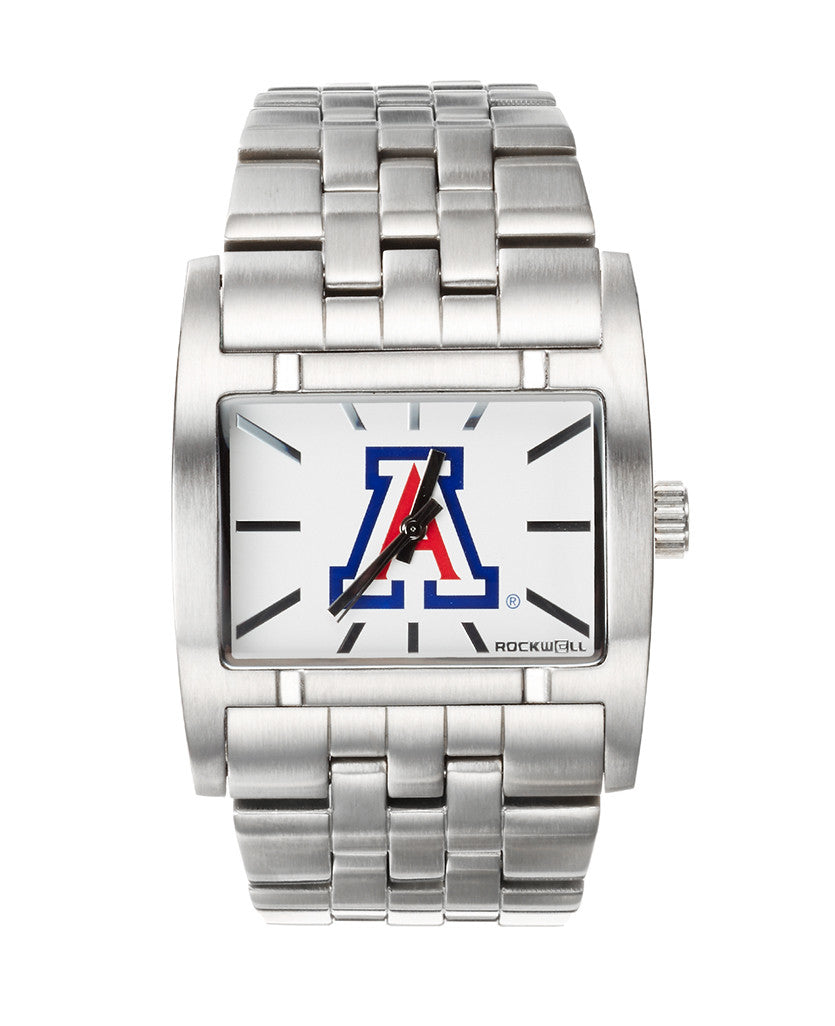 Custom Arizona Wildcats Silver Apostle with a White Dial