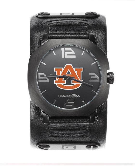 Auburn Assassin Gunmetal with Leather Band