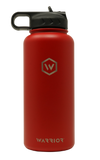 32 oz valor red rockwell warrior flask water bottle lid with straw  Edit alt text