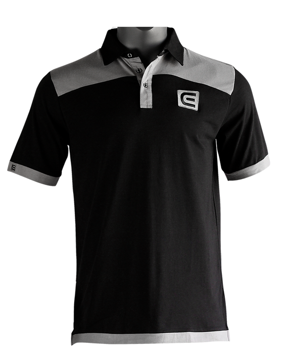 Rockwell Tri-Blend Polo - Black/Gray