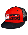 RTF Snapback Trucker Hat Red/Black Mesh back