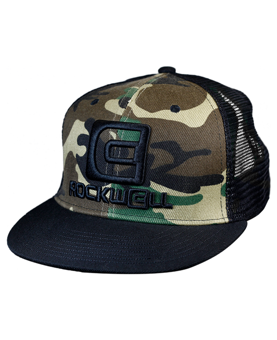 Snapback Trucker Hat OG stacked logo Camo/Black mesh back