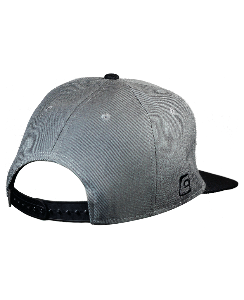 Snapback Hat OG Gray Black - Rockwell Time 3daf479d1c6