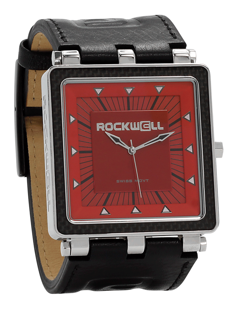 CF black Leather with Red Dial - watch