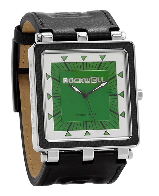 CF Black Leather band with Green/white dial - Watch)