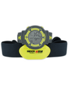 Gray and Yellow Game Face with Heart Rate Chest Strap