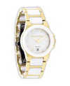 Katelynn Gold-White Ceramic - Watch