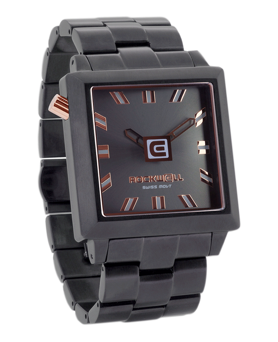 Gunmetal Rose Gold 40mm Square Watch