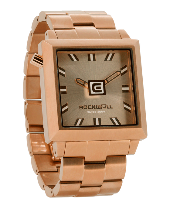 rose gold 40mm Square watch