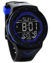 Coliseum Black/Blue with Air Force Logo printed on band - Digital Watch