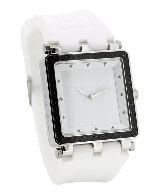 CF Lite White Silicone band with white/Silver Dial - Square Watch