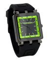 CF Lite Black/Green dial with black silicone band - Square Watch