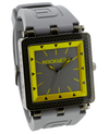 CF Gray/Yellow Dial with Grey Silicone band - Square Watch