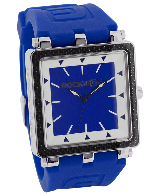 CF Blue Silicone band and Blue/White Dial - Watch)