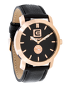 Cartel - (Rose Gold/Black Leather - Watch)