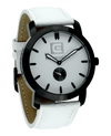 Cartel (Black/White Leather - Watch)