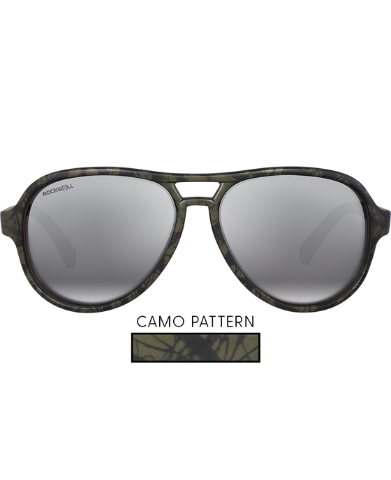 The Casino - Matte Camo with Flash Silver Lens