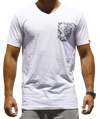 Men's Boss V-Neck White