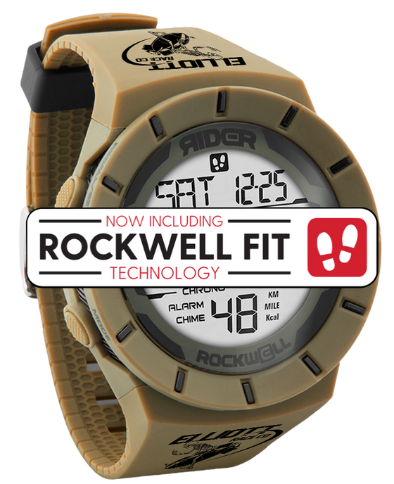 tan and black elliot race co edition coliseum with  rockwell fit technology
