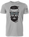 The Q Skull Gray Shirt Front