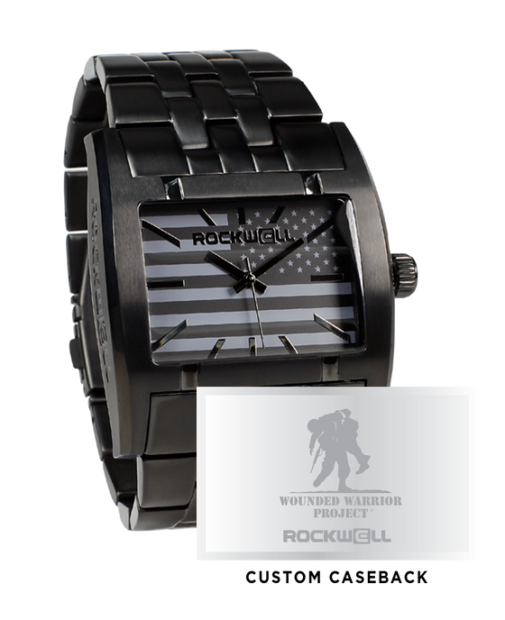 Gunmetal Apostle with a Custom Wounded Warriors Caseback and Dial