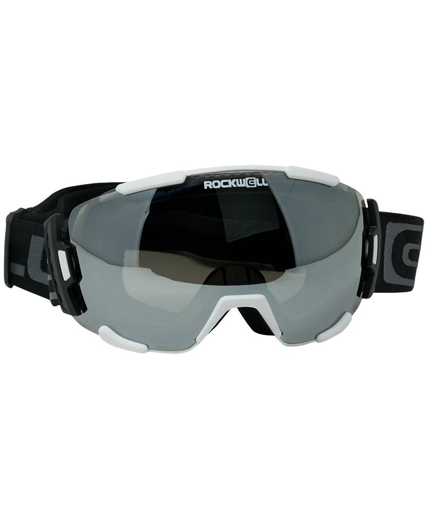 The Bomber - White w/Silver Mirror Lens