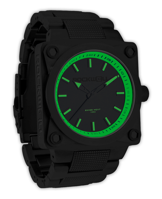 747 45mm Black and Green watch
