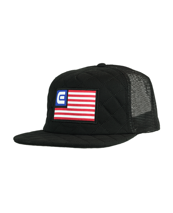ad08ab96 Freedom, Quilted Trucker - Black