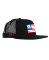 Freedom Flag, Quilted Trucker Hat - Black
