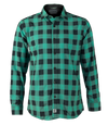 Green and Black Plaid Titan Button up Long Sleeve Shirt