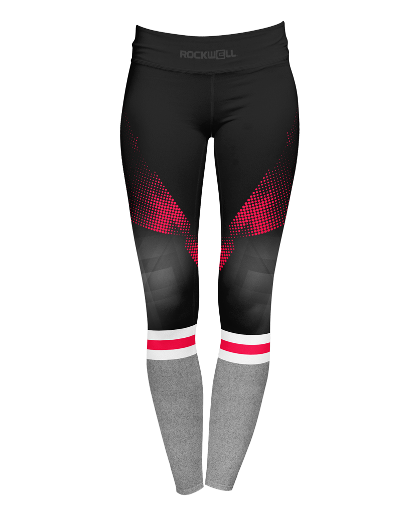 Women's Pink Stripe Yoga Pants