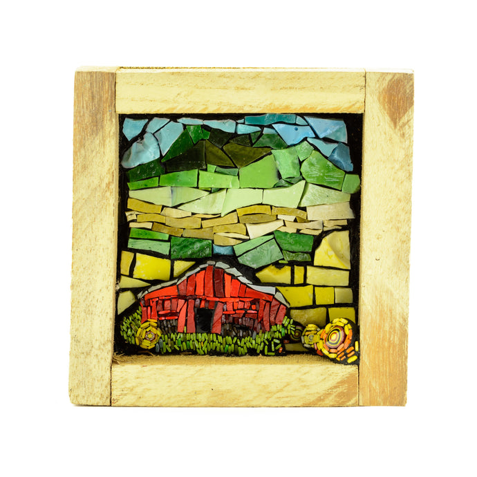 Little Red Barn -Mosaic Art