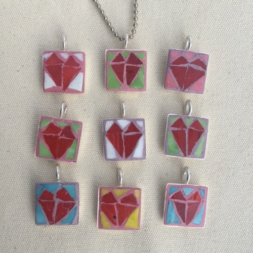 Sweetheart Mosaic Pendants - Jewelry
