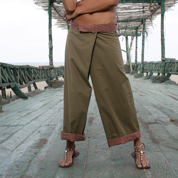Lost And Found By J Friedman, beachwear, resort wear, bohemian, beach, travel, beautiful, comfortable, 100% cotton, pant, green