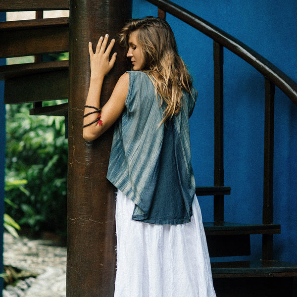 Lost And Found By J Friedman, beachwear, resort wear, bohemian, beach, travel, style, comfort, shirt, short sleeve, blue, cotton