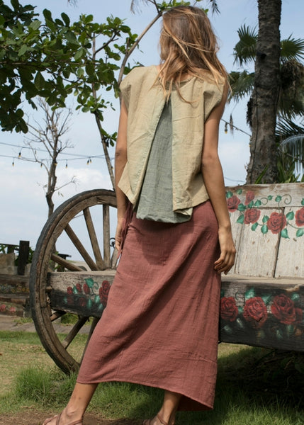 Lost And Found By J Friedman, beachwear, resort wear, bohemian, beach, travel, beautiful, comfortable, 100% cotton, skirt, wrap, rust color