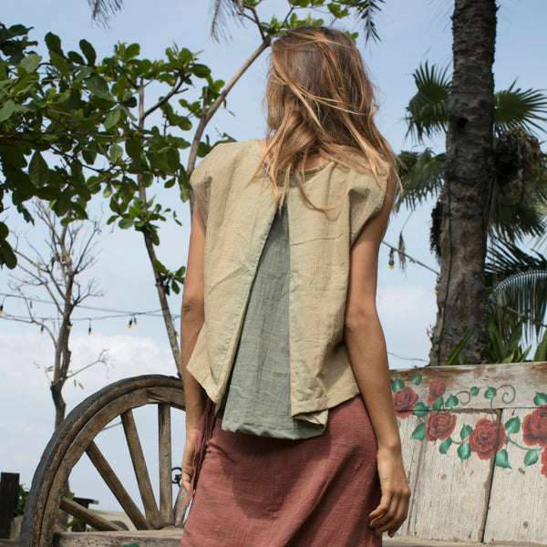 Lost And Found By J Friedman, beachwear, resort wear, bohemian, beach, travel, beautiful, comfortable, 100% cotton, shirt, lime