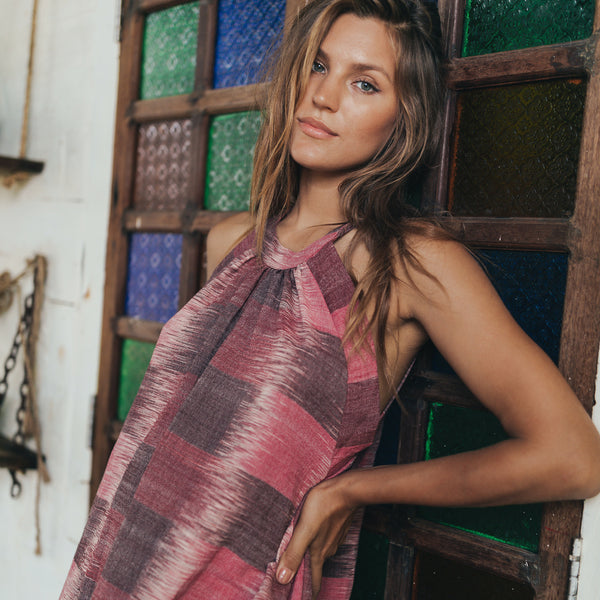 Lost And Found By J Friedman, beachwear, resort wear, bohemian, beach, travel, beautiful, comfort, dress, one piece, pink, mauve, long
