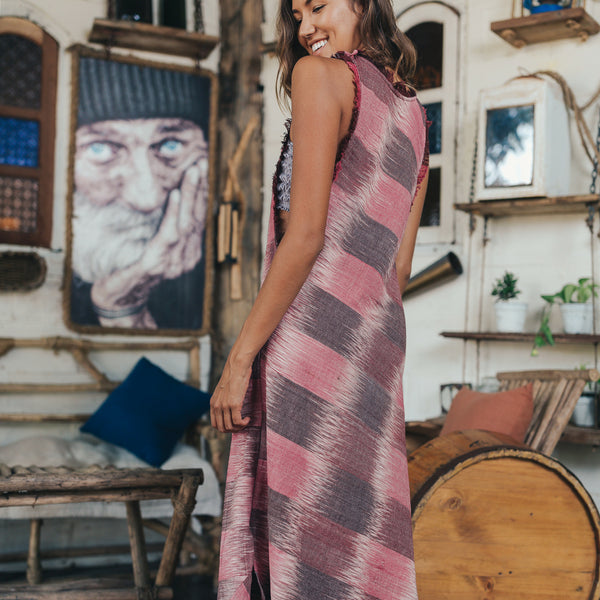 Lost And Found By J Friedman, beachwear, resort wear, bohemian, beach, travel, beautiful, comfort, dress, pink, mauve, long