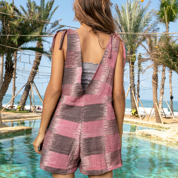 Lost And Found By J Friedman, beachwear, resort wear, bohemian, beach, travel, beautiful, comfort, jumper, pink and brown, one piece, sleeveless