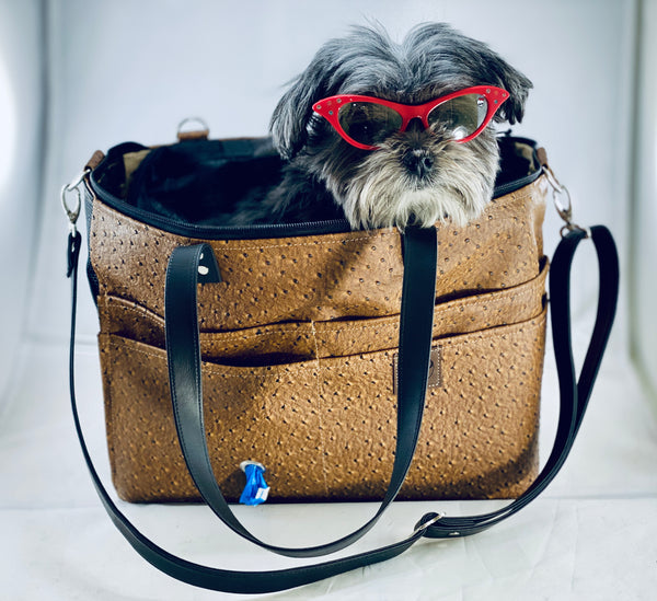 Airpup Airline Pet Carrier vegan leather - the pop company