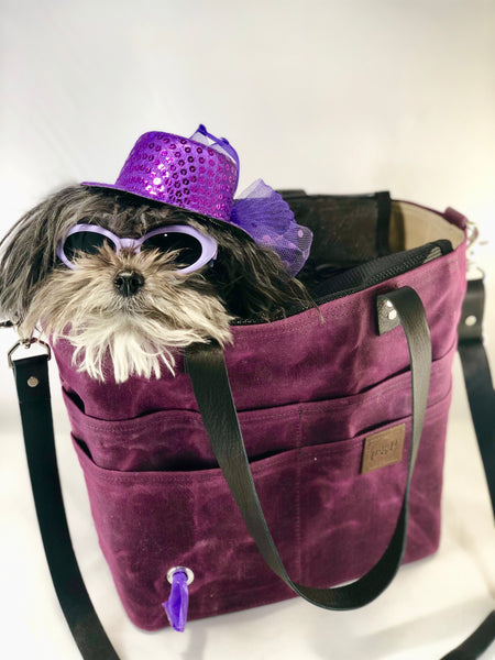 Waxed canvas  Pup-to-Go Purse with backpack option (medium) - the pop company