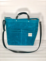 Turquoise Purse of Pockets