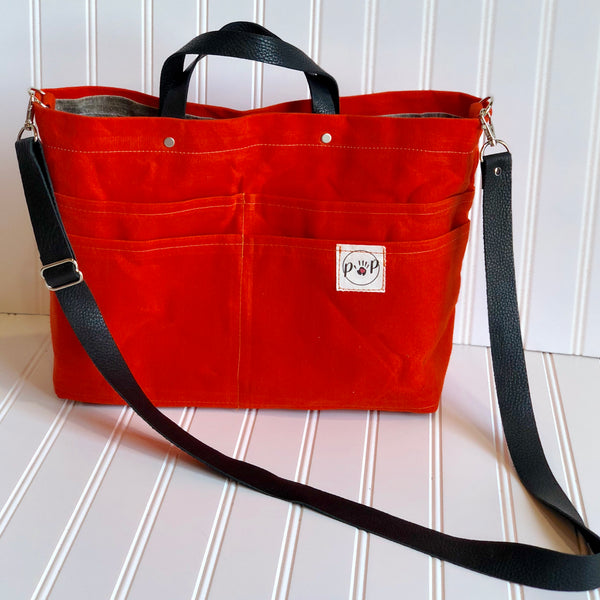 Orange Purse Of Pockets with backpack option