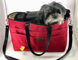 Waxed Canvas Airpup Airline Pet Carrier - the pop company