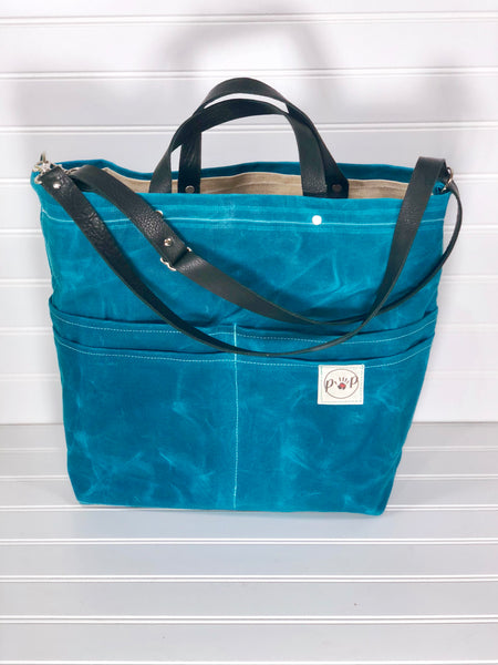 Turquoise Purse of Pockets with backpack option