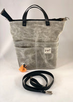 Black and white denim Pet Owner's Purse