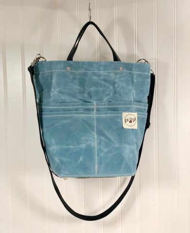 Sky blue Purse Of Pockets